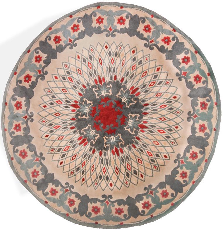 French Art Deco Circular Design Rugs