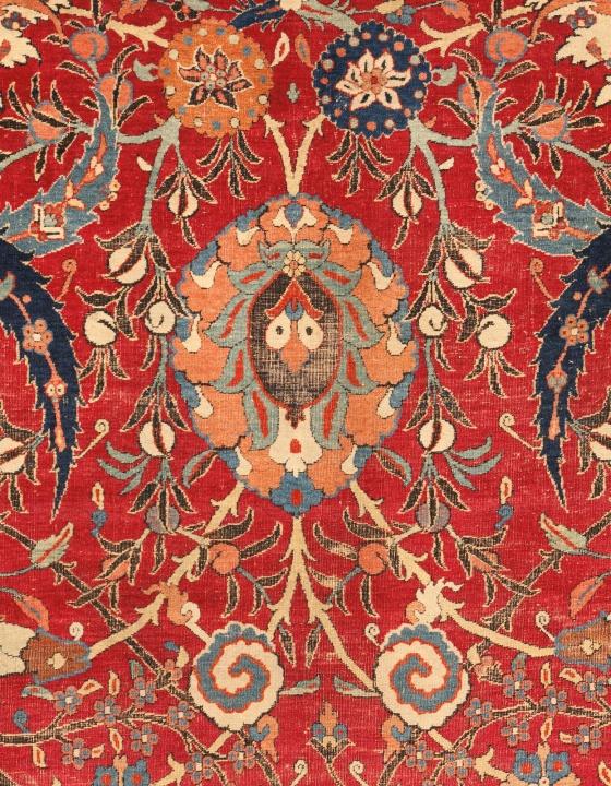 A Sickle-Leaf Vine Scroll and palmette Vase Technique rug