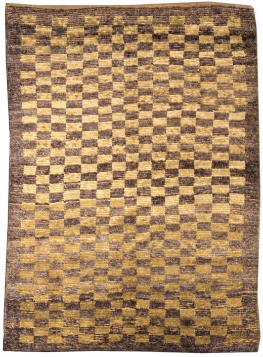 tnw520-antique-rug-turkish-tulu-brown-minimalist-geometric-bb3921-7x5
